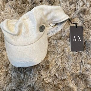 Armani Exchange beanie with visor
